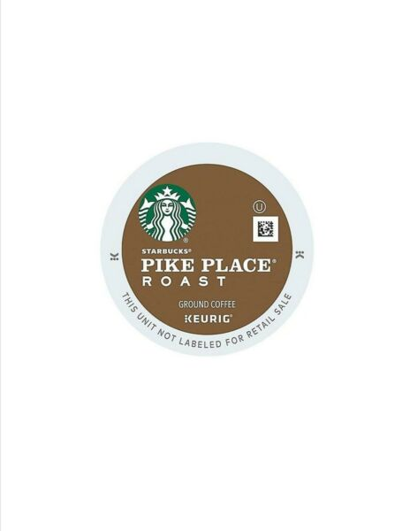 192 cups Starbucks Pike Place Coffee Keurig K-Cup Pods Me Dark Roast Fresh !