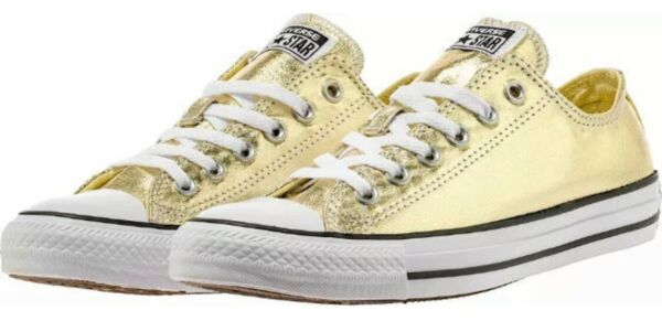 Converse men's Shoes Chuck Taylor All Star High Light Gold White NEW Multi size