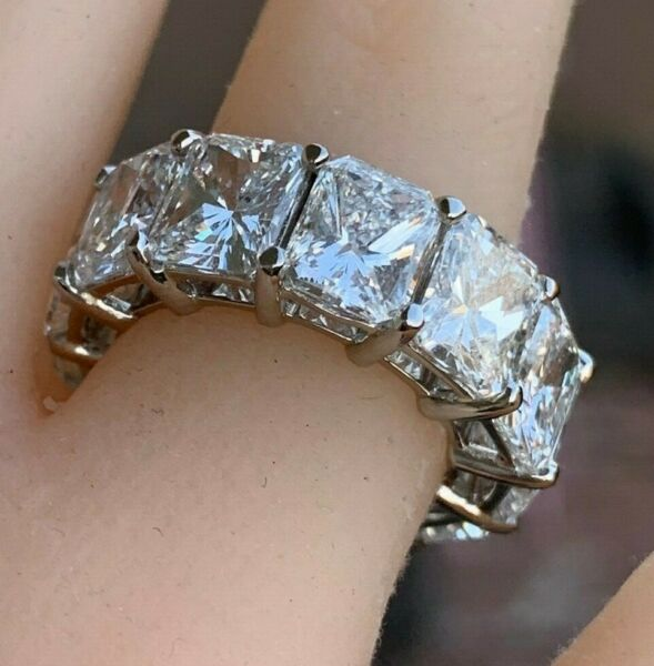 16 Carat Approximate Radiant Diamond Eternity RingWedding Band Ben Dannie