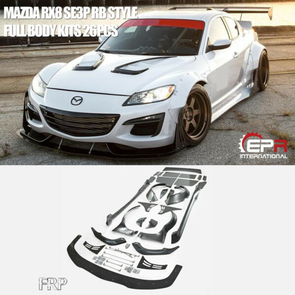 For Mazda RX8 SE3P RB Style FRP Fiber Glass Full Set Wide Body Racing Parts Kits