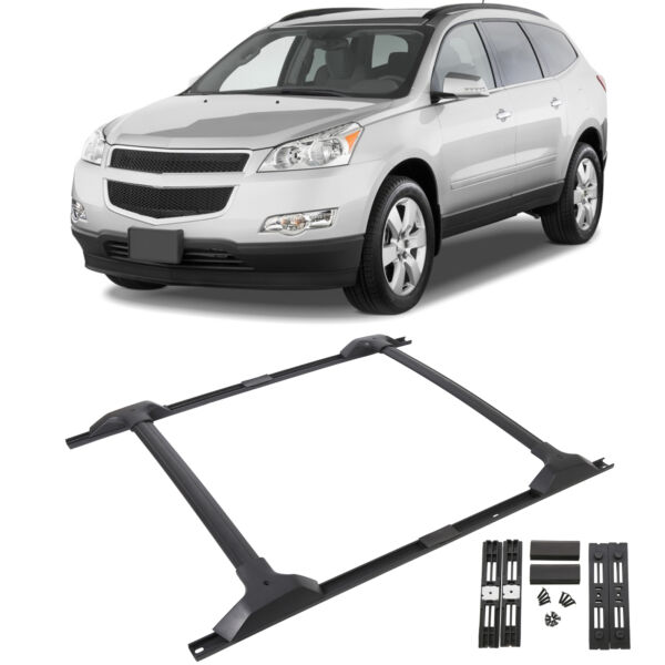 For 09 17 Chevy Traverse Roof Rack Cross Bar amp; Side Rail Package Combo Set $103.55