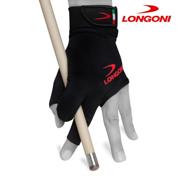 LONGONI Black Fire 2.0 Billiard Pool Cue GLOVE for Left or Right hand