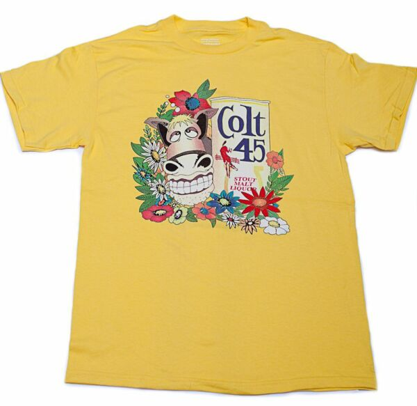 Yellow COLT 45 STOUT MALT LIQUOR Beer Jeff Spicoli Quality S 3XL Cotton T Shirt $17.70