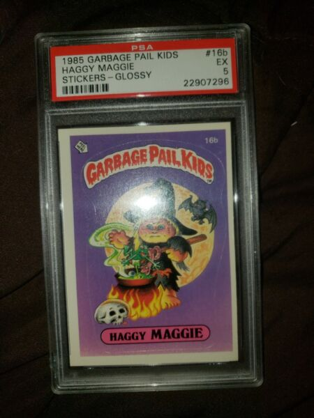 1985 GARBAGE PAIL KIDS OS1 HAGGY MAGGIE - 16b - GLOSSY - PSA GRADED