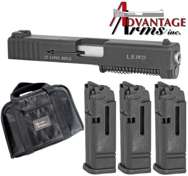 Advantage Arms Gen 1 3 for Glock 19 23 25 32 38 AAC19 23G3 3 Magazines $290.00