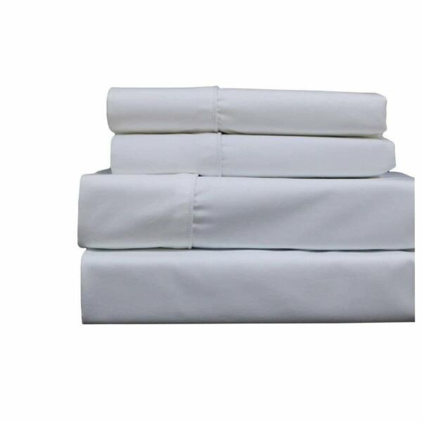 Top Linens 4 Piece Bed Sheet Set 100% Cotton Sateen 400 Thread Count