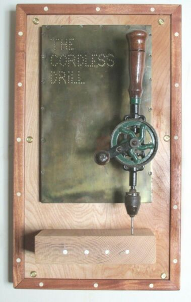 Vintage sculpture by Czappa quot;The Cordless Drillquot; 1991 California Assemblage.