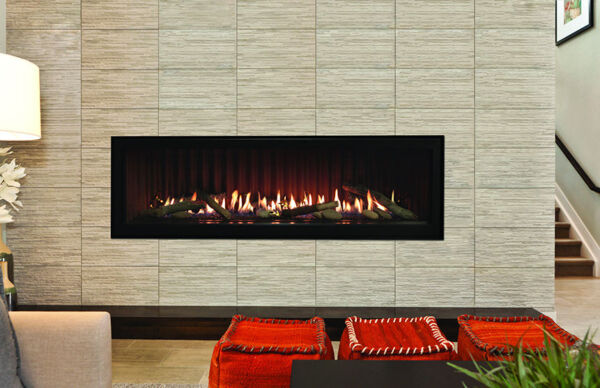Empire Boulevard Direct Vent Linear Contemporary Gas Fireplace Clean Face 60quot;