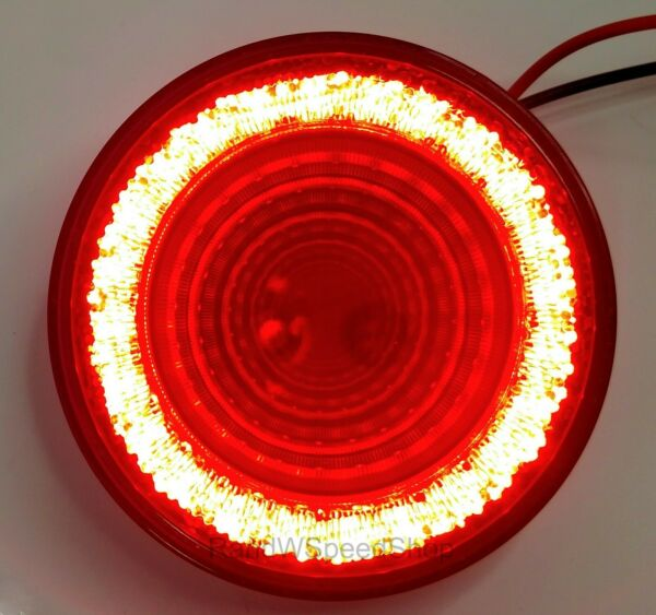 4quot; Round LED quot;MIRAGEquot; Stop Turn amp; Tail Light Red LED Red Lens S T T