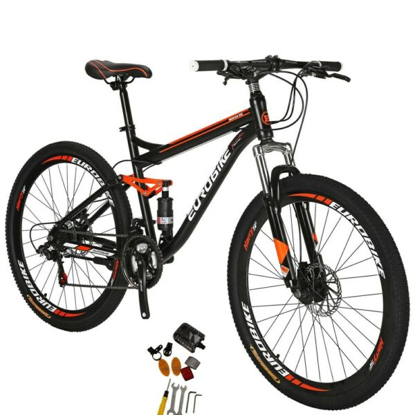 27.5quot; Full Suspension Mountain Bike Shimano 21 Speed Mens Bikes $284.05