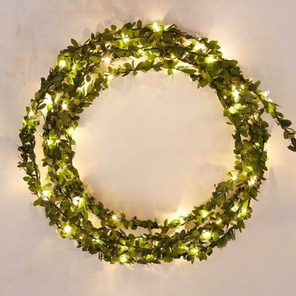 2m Waterproof Outdoor Led Leaf Copper Wire LED String Light for Party Decoration