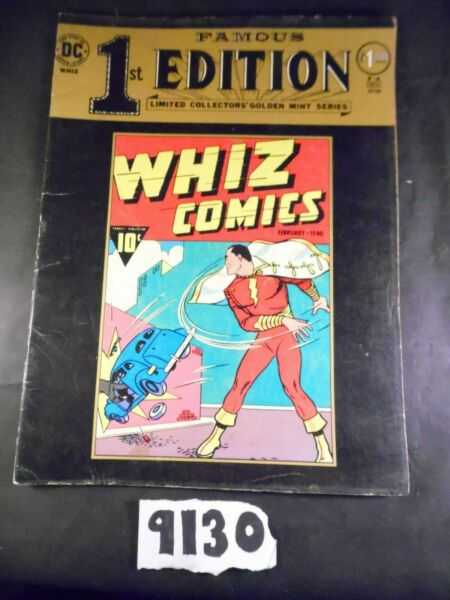 Famous 1st Editions Whiz Shazam Treasury size NO STOCK PHOTOS Listing B