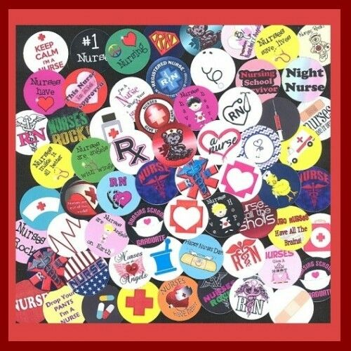 100 Precut RN REGISTERED NURSE NURSING BOTTLE CAP IMAGES Variety 1 inch discs