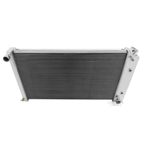 1973-1980 Chevy K5 Blazer Radiator Polished Aluminum 3 Row Champion Radiator