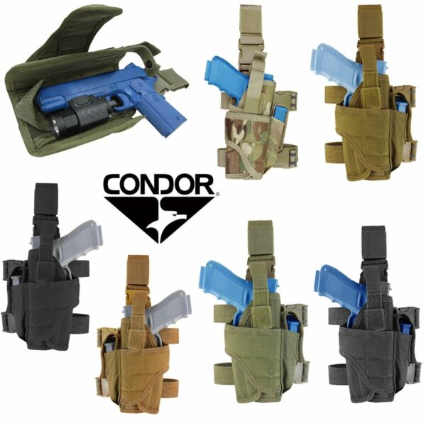 Condor Tornado Tactical Adjustable Drop Leg Pistol Right or Left Handed Holster