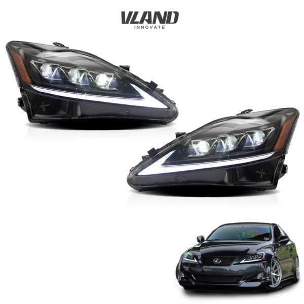VLAND LED Headlights For 2006 2013 Lexus IS 250 350 ISF Front Lights Assembly