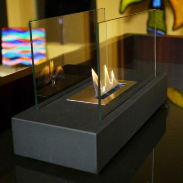 Tempered Glass Tabletop Flame Fireplace Home Living Room Modern Decor