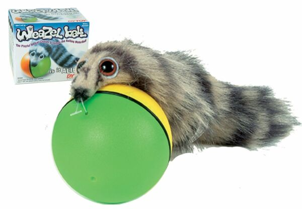 Best Cat Toys Interactive Teaser Chase Moving Weasel Roll Ball Battery Operated