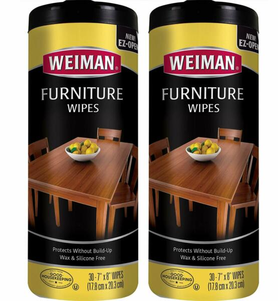 Weiman Wood Cleaner and Polishing Wipes - 2 Pack - For Furniture To Beautify