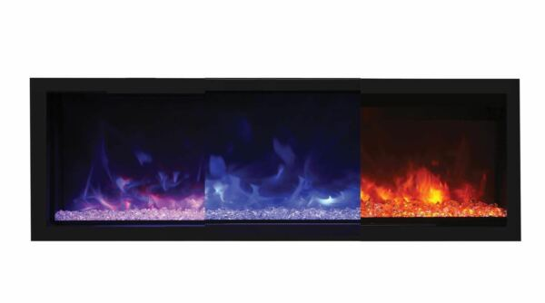 Remii Extra-TallDeep Indoor Electric Fireplace W Black Steel Surround