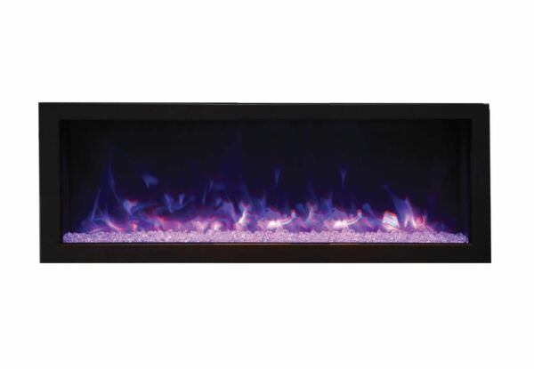 Remii Deep Electric Fireplace with Black Steel Surround  Built-In 45