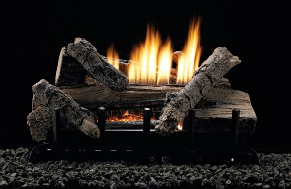White Mountain Hearth 24-inch Whiskey River Gas Log Set With Vent Free W Remote