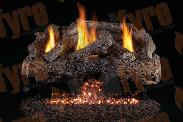 Real Fyre Charred Frontier Oak Vent Free Logs G10 Burner - Multiple Options 18