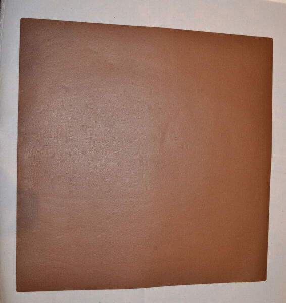 Leather Pieces - Brown Top Grain - 3-4 oz - 12 x 12