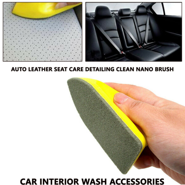 RV Leather Seat Care Detailing Clean Nano Brush Car Interior Wash Accessories