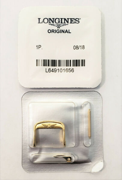 Original Longines 16mm Yellow Gold Clasp Buckle For Straps w 16mm at Buckle End $24.99