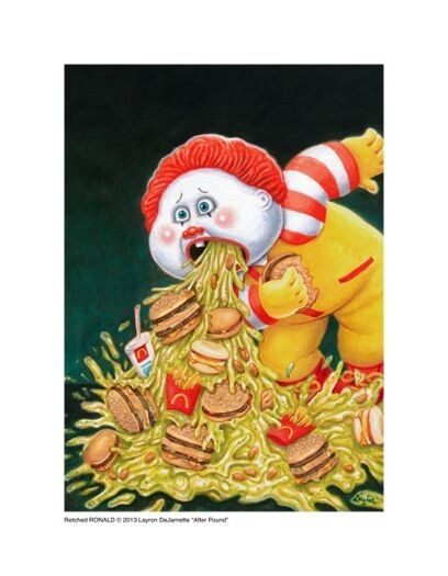 Garbage Pail Kids style Ronald McDonald Limited Edition Giclée Print SIGNED!