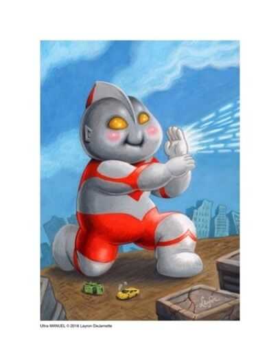 Garbage Pail Kids style Ultraman Limited Edition Giclée Print SIGNED!