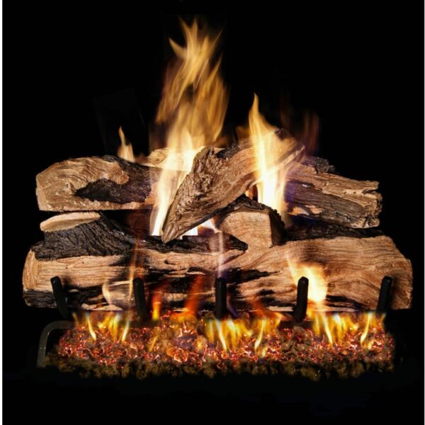 Peterson Real Fyre 24-inch Split Oak Designer Plus Gas Log Set With Vented P