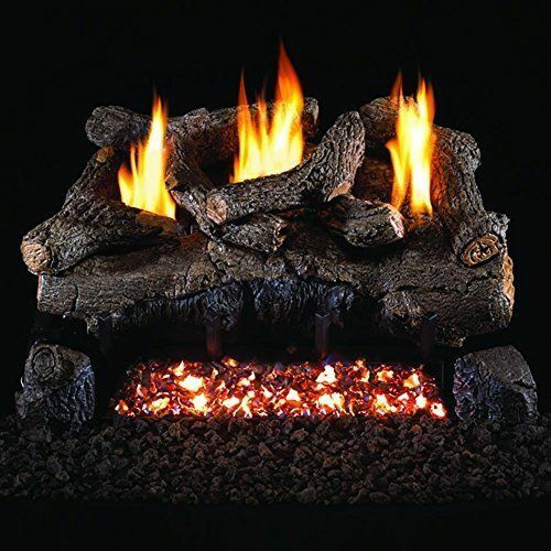 Peterson Real Fyre 30-inch Evening Fyre Log Set With Vent-free Electronic nglp