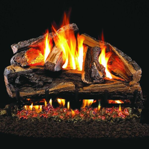 Peterson Real Fyre 24-inch Rugged Split Oak Gas Log Set With Vented g46 nglp..