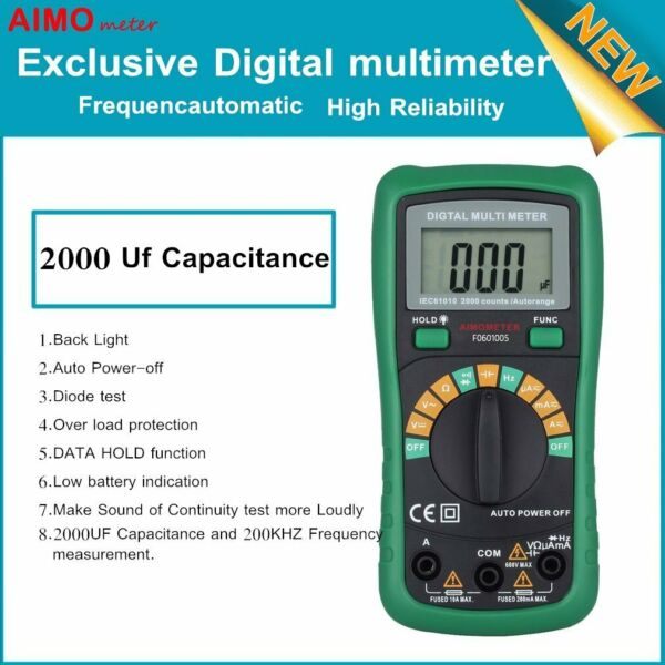 2000 Uf Frequency Automatic Digital Multimeter Performance High Reliability BT