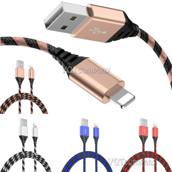 3FT 6FT 10FT Long Cable Heavy Duty Charger Charging for iphone 8 7 6 Plus 11 Pro
