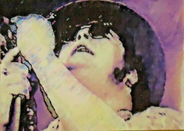 ACEO ATC Blues Traveler John Popper Hand-Rendered Wet Watercolor
