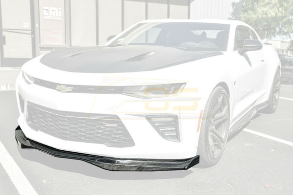 EOS T6 Style CARBON FIBER Front Lip Splitter & Side End Caps For 16-18 Camaro SS