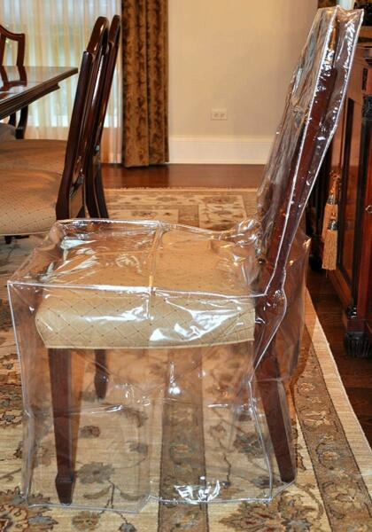 Furniture Protector Dining Room Chair Plastic Cover Clear Heavy Duty Chair Cover $15.59