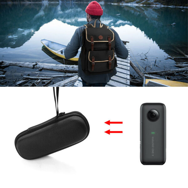 Hard Case Design For Insta360 ONE X Camera Fitted Travel Carrying Hand Strap
