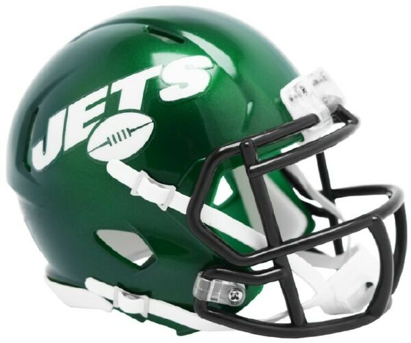 2019 NY JETS GREEN RIDDELL SPEED FOOTBALL MINI HELMET NEW IN RIDDELL BOX 8055448
