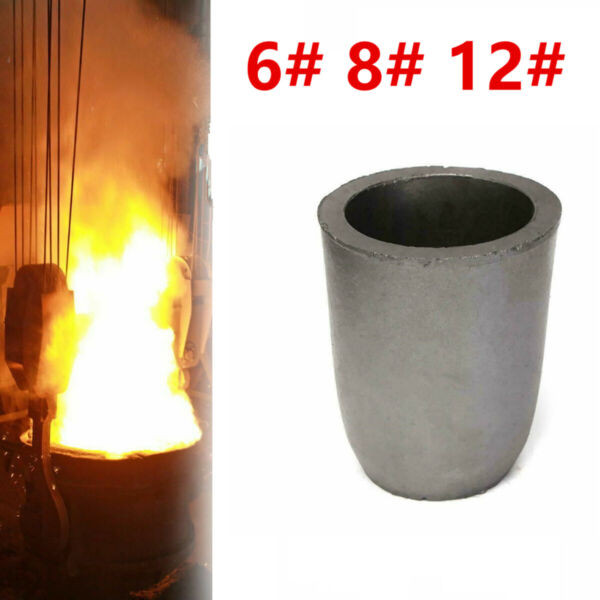 Graphite Foundry Crucible Melting Furnace Smelting Tool Refining Gold Silver