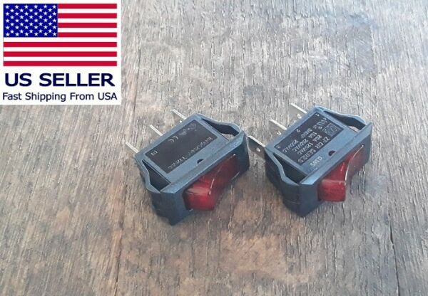 2 Heater Switches for Twin Star Fireplace Models # 23E01 # 23E02 # 23E05