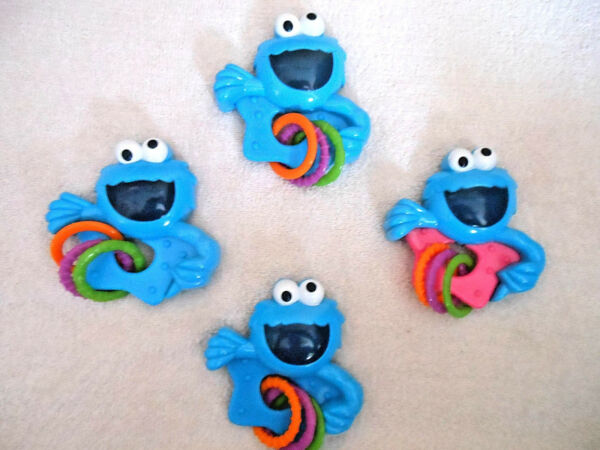 Cookie Monster Large Parrot Bird Foot Toy Macaw Cockatoo Amazon Colorful Fun $4.87