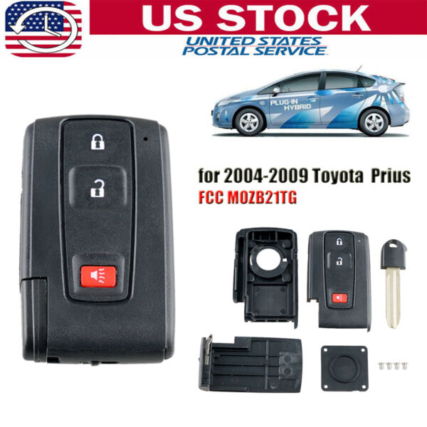 Remote Key Fob Shell Case Blade for 2004 2005 2006 2007 2008 2009 Toyota Prius
