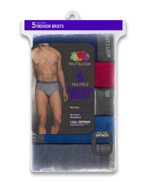 Fruit of the Loom® BIG MEN'S DUAL DEFENSE FASHION BRIEFS 5-Pack 3XL