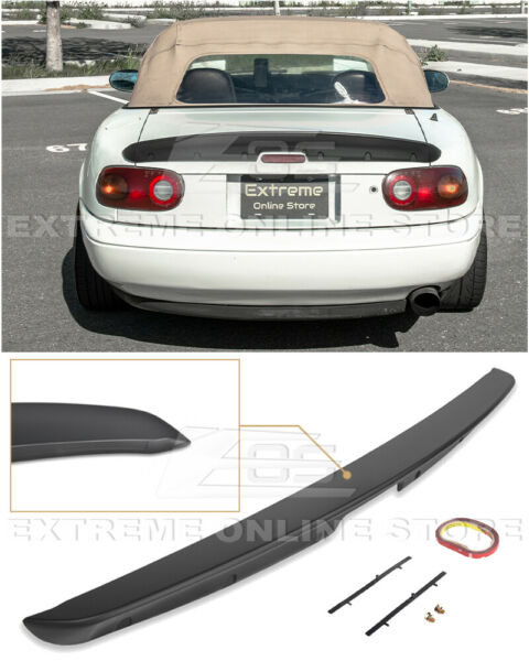 KG WORKS Style ABS Plastic Rear Trunk Lid Wing Spoiler For 90-97 Mazda Miata MX5