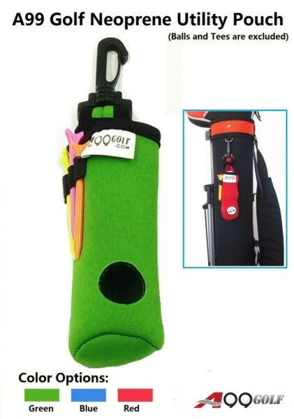 3pcs A99 Golf Utility Pouch Neoprene Golf Balls Holder Tees Accessories Bag