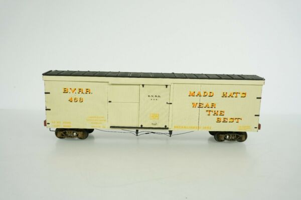 O Scale Completed Wood Kits BVRR Mad Hats Box Car Road # 468 B15 $19.95